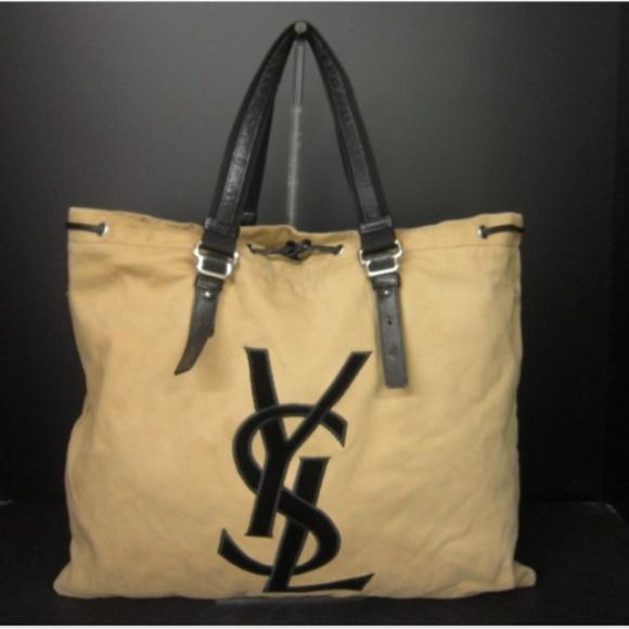 62fcc55768 Yves Saint Laurent Bags | Authentic Ysl Tan Xl Kahala Tote | Poshmark